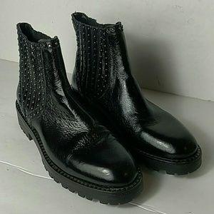 Zara Basic Collection Black Studded Boots